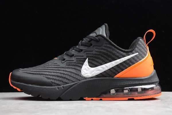 Nike Air Vapormax Flyknit Black White-Orange On Sale