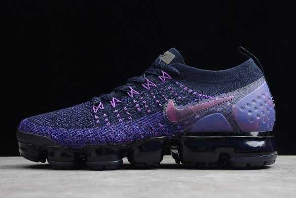 Nike Air VaporMax Flyknit 2 Black/Purple-Blue For Sale