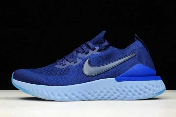 Nike Epic React Flyknit 2 Blue Void/Indigo Force-Black For Sale