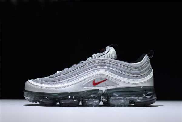 "New Air VaporMax 97 ""Silver Bullet"" Metallic Silver/Varsity Red-White-Black AJ7291-002"