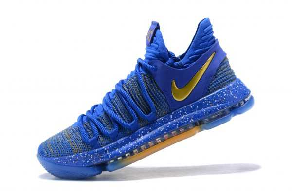 "Nike KD 10 ""Celebration"" Finals PE Racer Blue/Metallic Gold 897815-403"