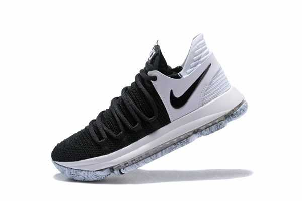 "Nike KD 10 ""Black/White"" Men's Basketball Shoes 897815-008"