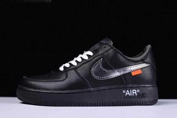 2018 Off-White x MoMA x Nike Air Force 1 Low Black/Metallic Silver AV5210-001