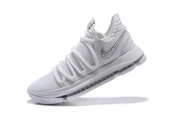 Men's Nike KD 10 Platinum Tint/Vast Grey-White Basketball Shoes 897816-009