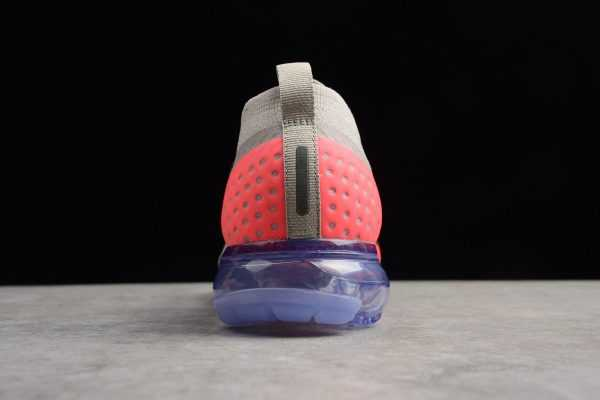 Men's and Women's Nike Air VaporMax Flyknit Moc 2 Moon Particle/Solar Red-Indigo Burst Running Shoes