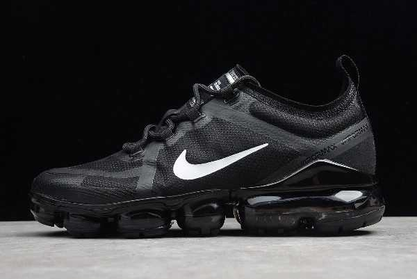 Men's and Women's Nike Air VaporMax 2019 Black White Shoes