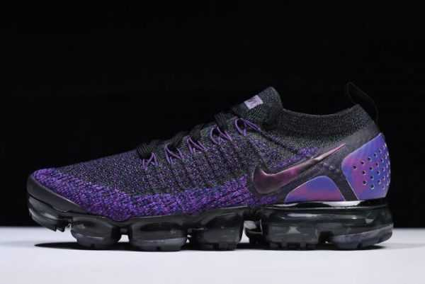 Nike Air VaporMax Flyknit 2.0 Shoes Black/Night Purple 942842-013