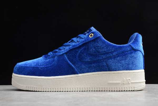 AT4144-400 Mens Nike Air Force 1 Low Premium 3 Velour Blue Void For Sale
