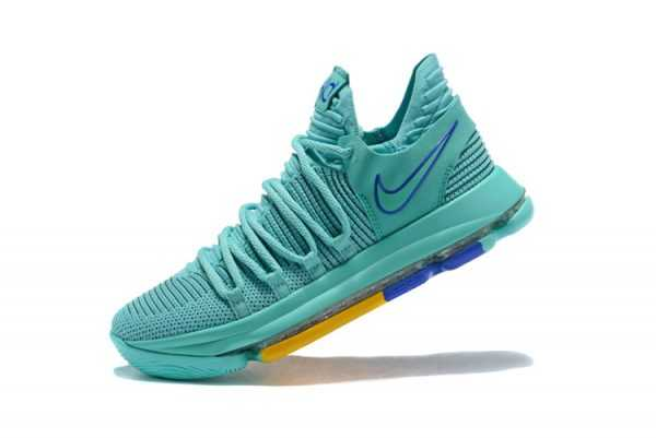"Men's Nike KD 10 ""City Edition 2"" Hyper Turquoise/Racer Blue 897816-300"