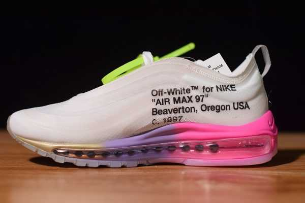 "Off-White x Nike Air Max 97 Serena Williams ""Queen"" Elemental Rose/Black-Barely Rose-White"
