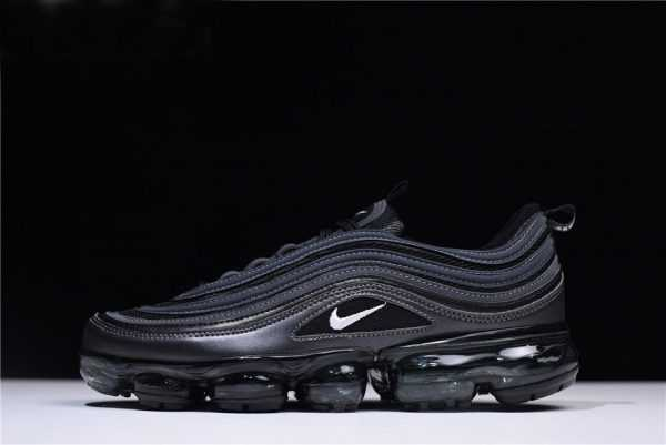 "Nike Air VaporMax 97 ""Black Reflect"" Triple-Black Running Shoes AO4542-001"