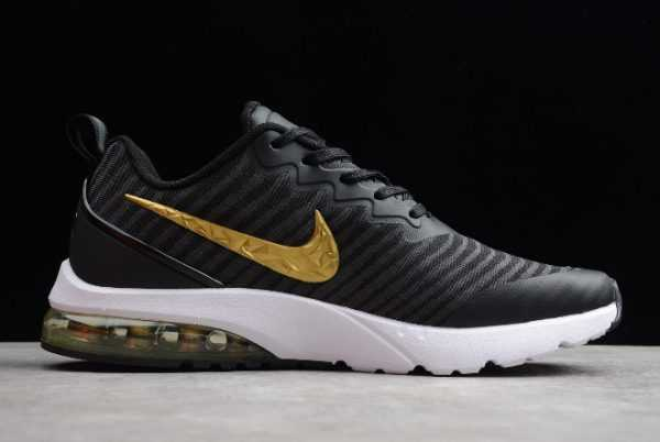 Nike Air VaporMax Flyknit Black/Metallic Gold-White For Sale