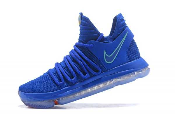 "Nike KD 10 ""City Edition"" Racer Blue/Light Menta/Black-Total Crimson 897816-402"