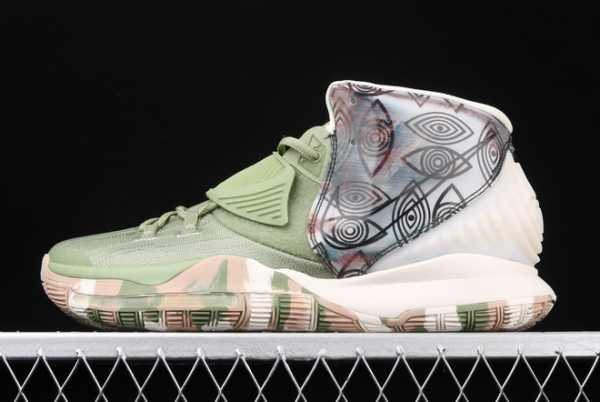 "2020 Nike Kyrie 6 ""Greey/Camo"" CQ7634-303 For Sale"