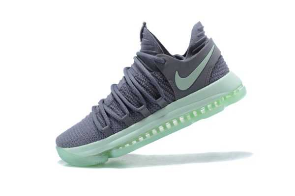 "Men's Nike KD 10 ""Igloo"" Cool Grey/Igloo-White Basketball Shoes 897816-002"
