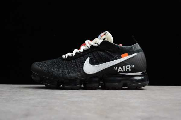 "2018 Virgil Abloh's Nike Air Vapormax FK ""OFF-WHITE"" Black/White-Clear AA3831-001"
