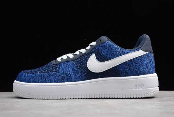 Buy Nike Air Force 1 Flyknit 2.0 College Navy/White-Obsidian Online